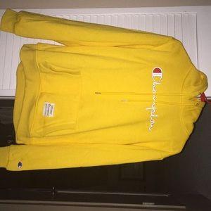 (2020) Yellow Champion Logo Hoodie